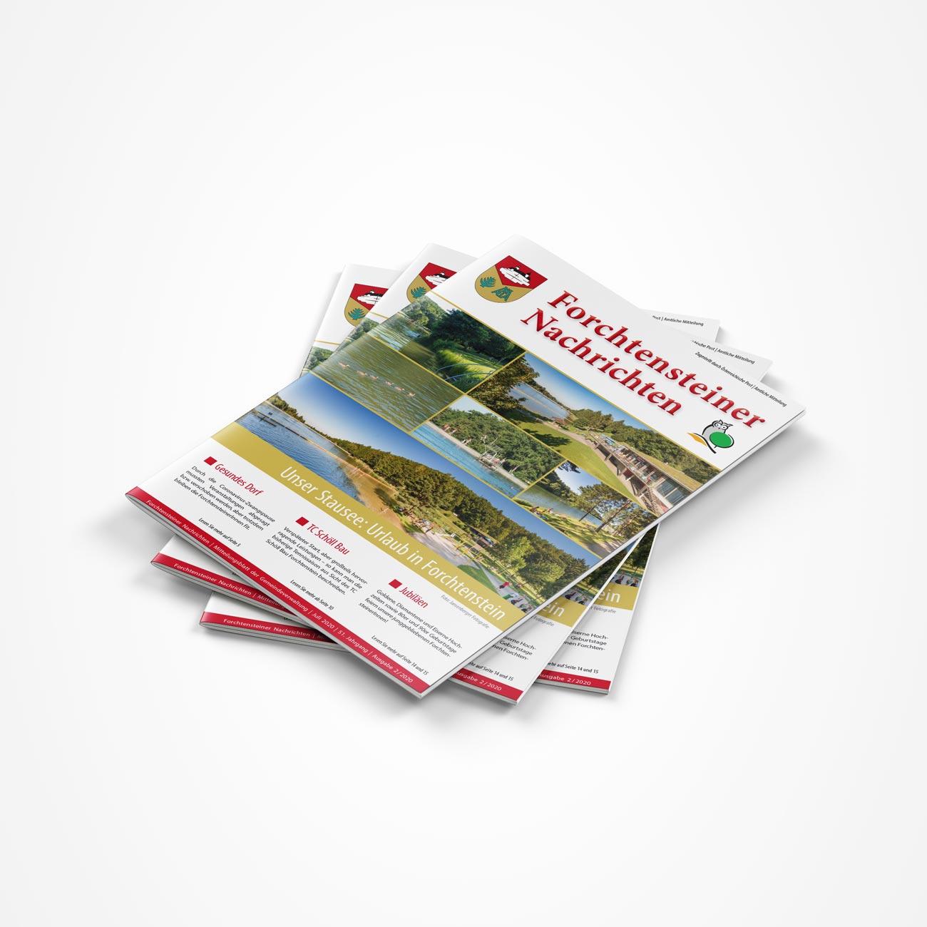 Bild zum Artikel Produktion der Sommerausgabe: Gemeindezeitung Sommer 2020