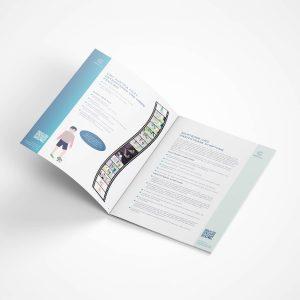 Layout für eine Broschüre (Grafik Burgenland)