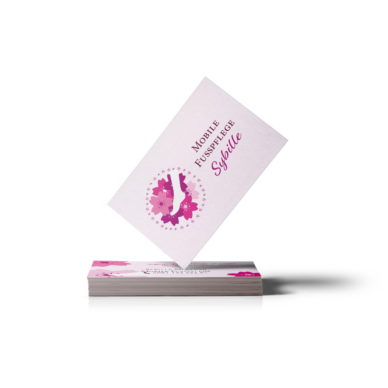 Bild zum Artikel Logo und Visitenkarte für Mobile Fußpflege Sybille