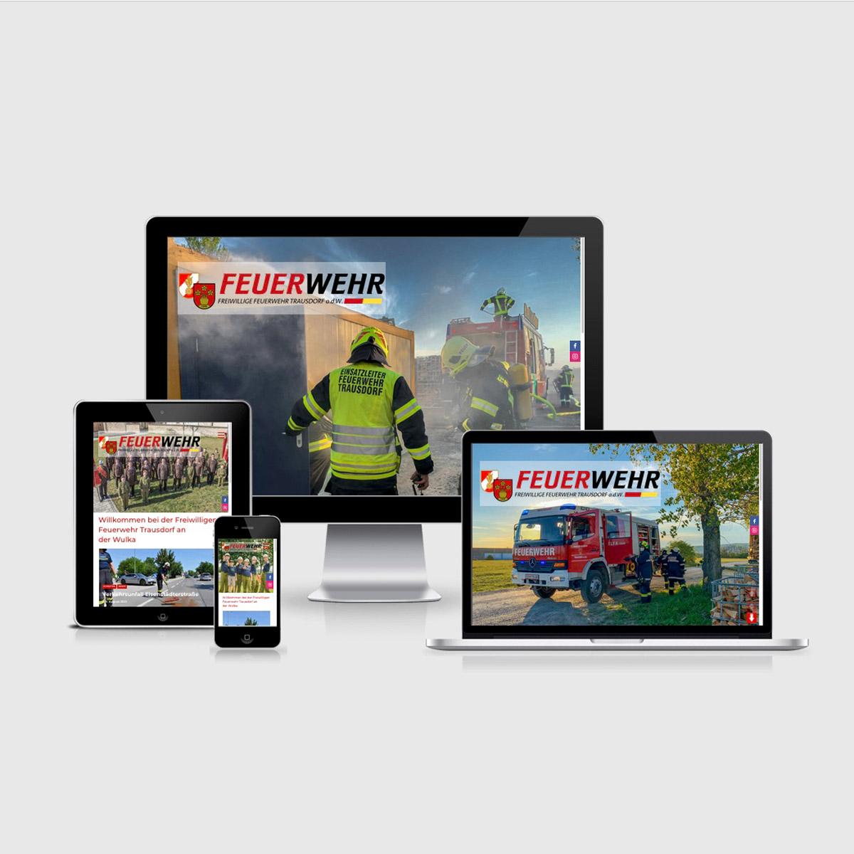 Bild zum Artikel Neue Website für die Freiwillige Feuerwehr Trausdorf an der Wulka