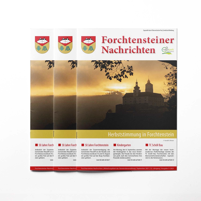 Bild zum Artikel Produktion der Gemeindezeitung Forchtenstein (Herbst 2021)
